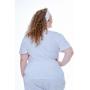 Scrub Confort Branco| Plus Size
