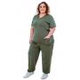 Scrub Confort Verde Militar | Plus Size