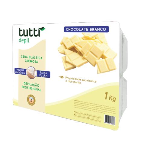 Cera Elástica Chocolate Branco Tutti Depil 1Kg