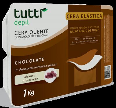 Cera Elástica Chocolate Tutti Depil 1Kg