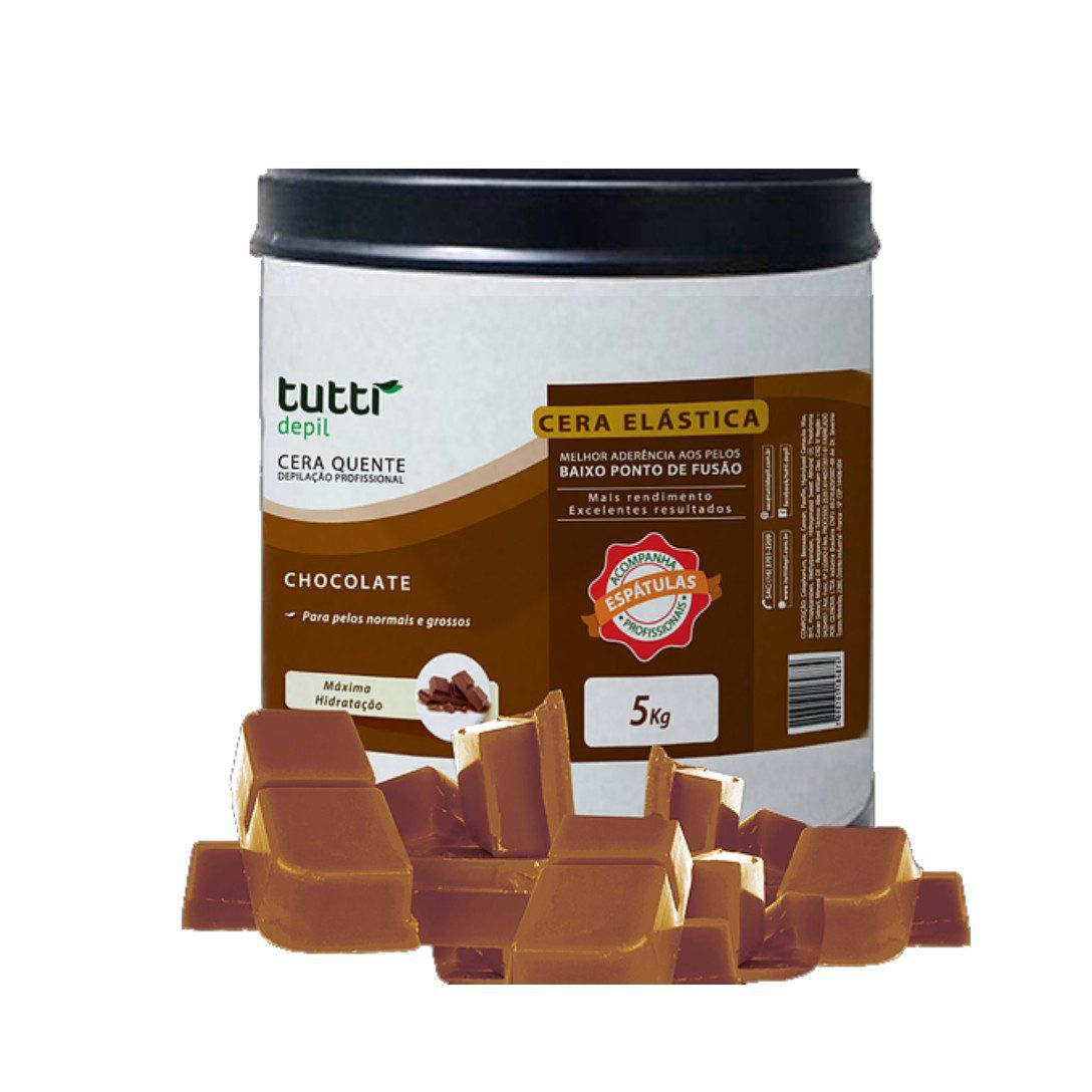 Cera Elástica Chocolate Tutti Depil Barrica 5Kg