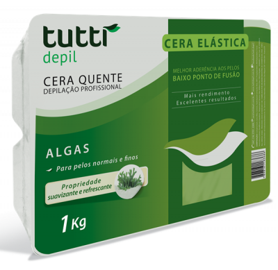 Cera Elástica de Algas Tutti Depil 1Kg