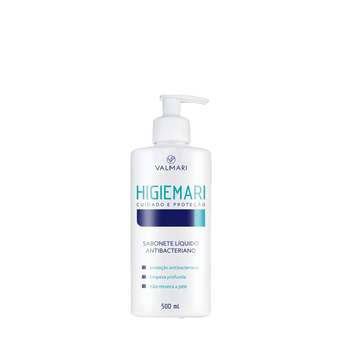 Higiemari Sabonete Líquido Antibacteriano 500ml - Valmari