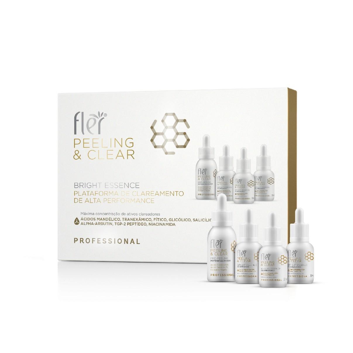 Kit Bright Essence Peeling & Clear Plataforma de Clareamento de Alta Performance - Fler