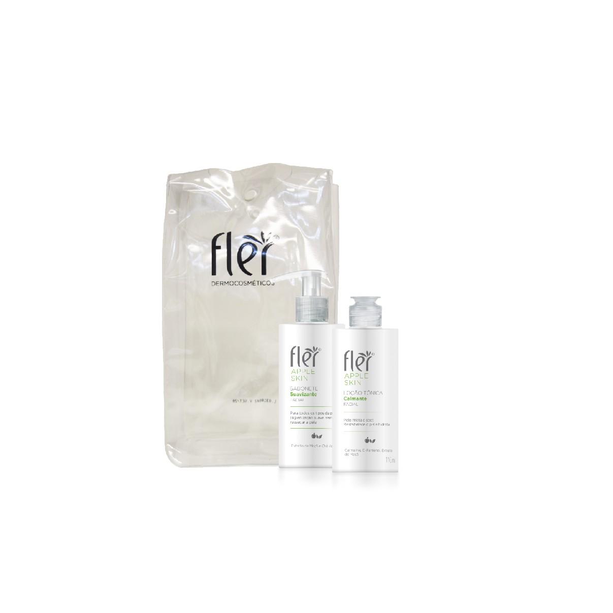 Kit Facial Apple Skin Home Care Pele Mista - Fler