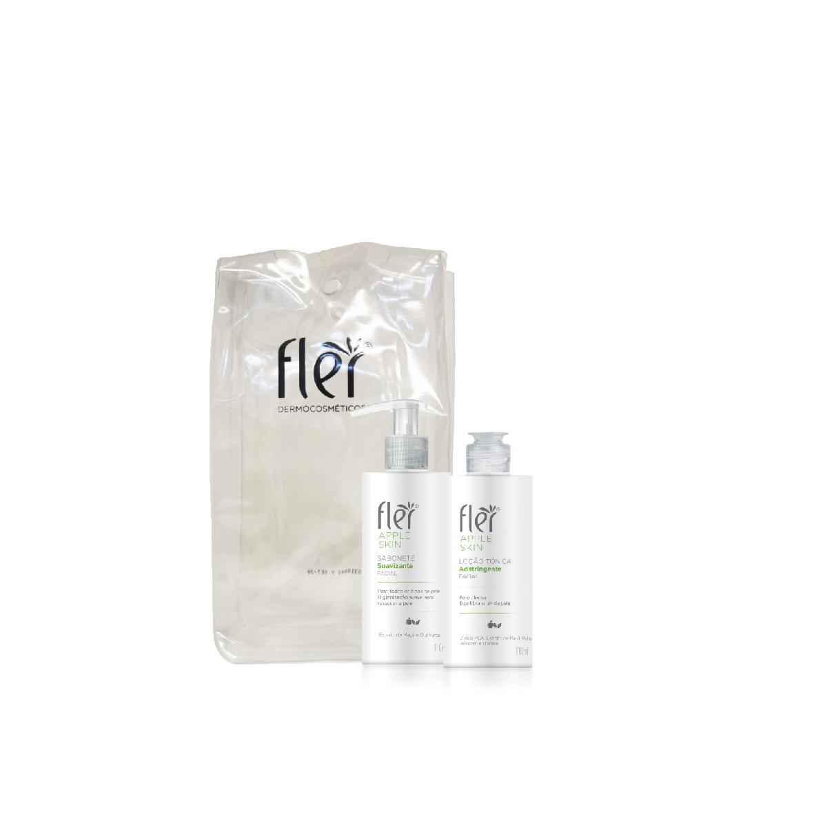 Kit Facial Apple Skin Home Care Pele Oleosa - Fler