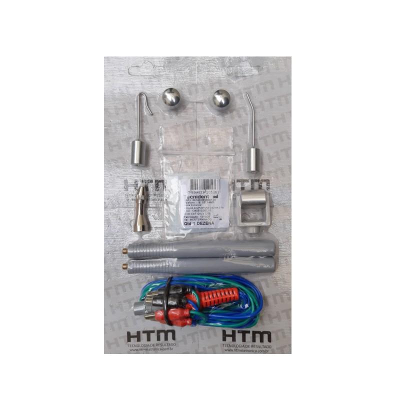 Kit Facial HTM com 5 Ponteiras + 2 Canetas Estimulação + Cabo Corrente Polarizada