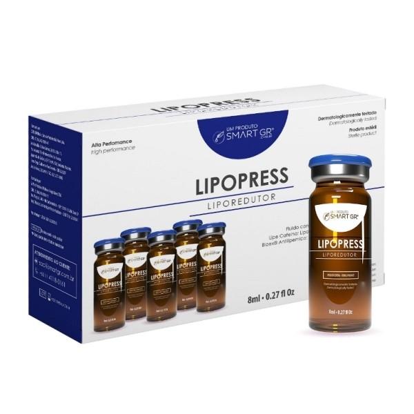Lipopress Liporredutor para Intradermoterapia Pressurizada 5 Frascos de 8 ml - Smart GR