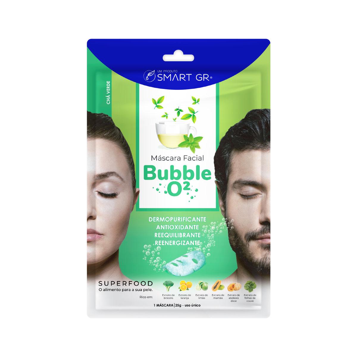 Máscara Facial Superfood Bubble O² Chá Verde - Smart GR