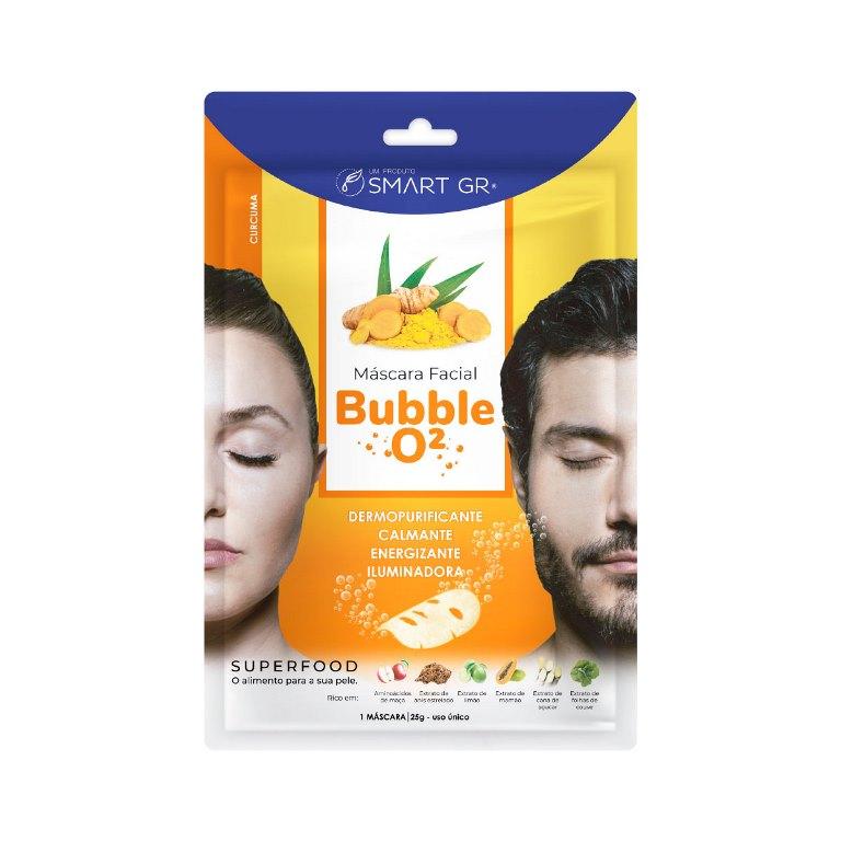 Máscara Facial Superfood Bubble O² Cúrcuma - Smart GR