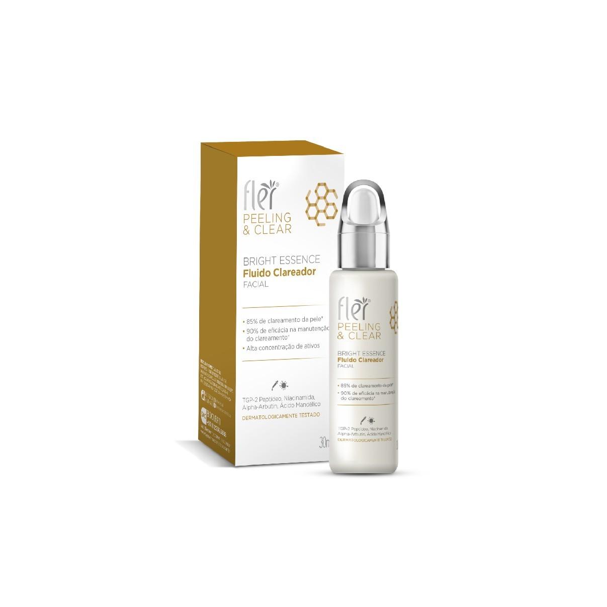 Peeling & Clear Fluído Clareador Bright Essence 30 ml - Fler