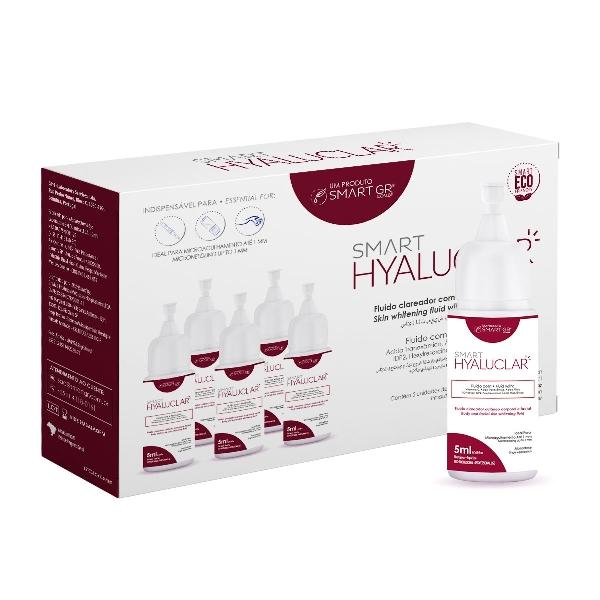 Smart Hyaluclar - Fluido Clareador com Ácido Hialurônico - 5 Monodoses de 5 mL - Smart GR