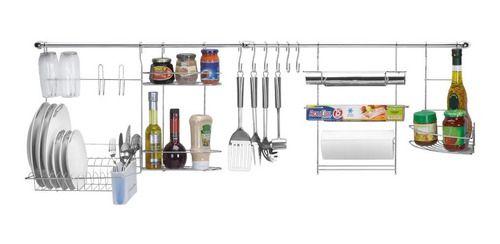 Kit Cozinha Cook Home 1 Porta Tempero / Rolo / Escorredor 1401