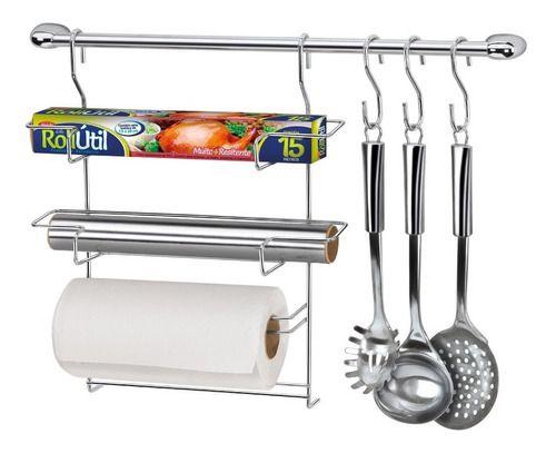 Kit Cozinha Cook Home 6 Porta Rolos Arthi 1406