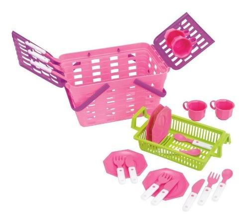 Cesta Infantil Magic Toys Pic-nic Meg Rosa/lilás