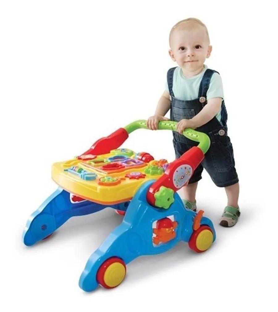 Andador Infantil Didático Bebê  4 Em 1 Com Som Maral