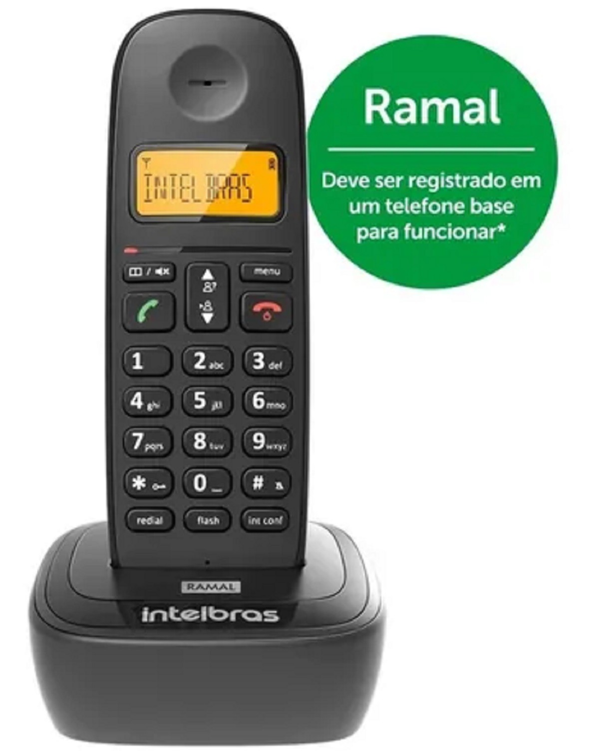 Aparelho Telefone Sem Fio Intelbras Digital Ramal TS2511