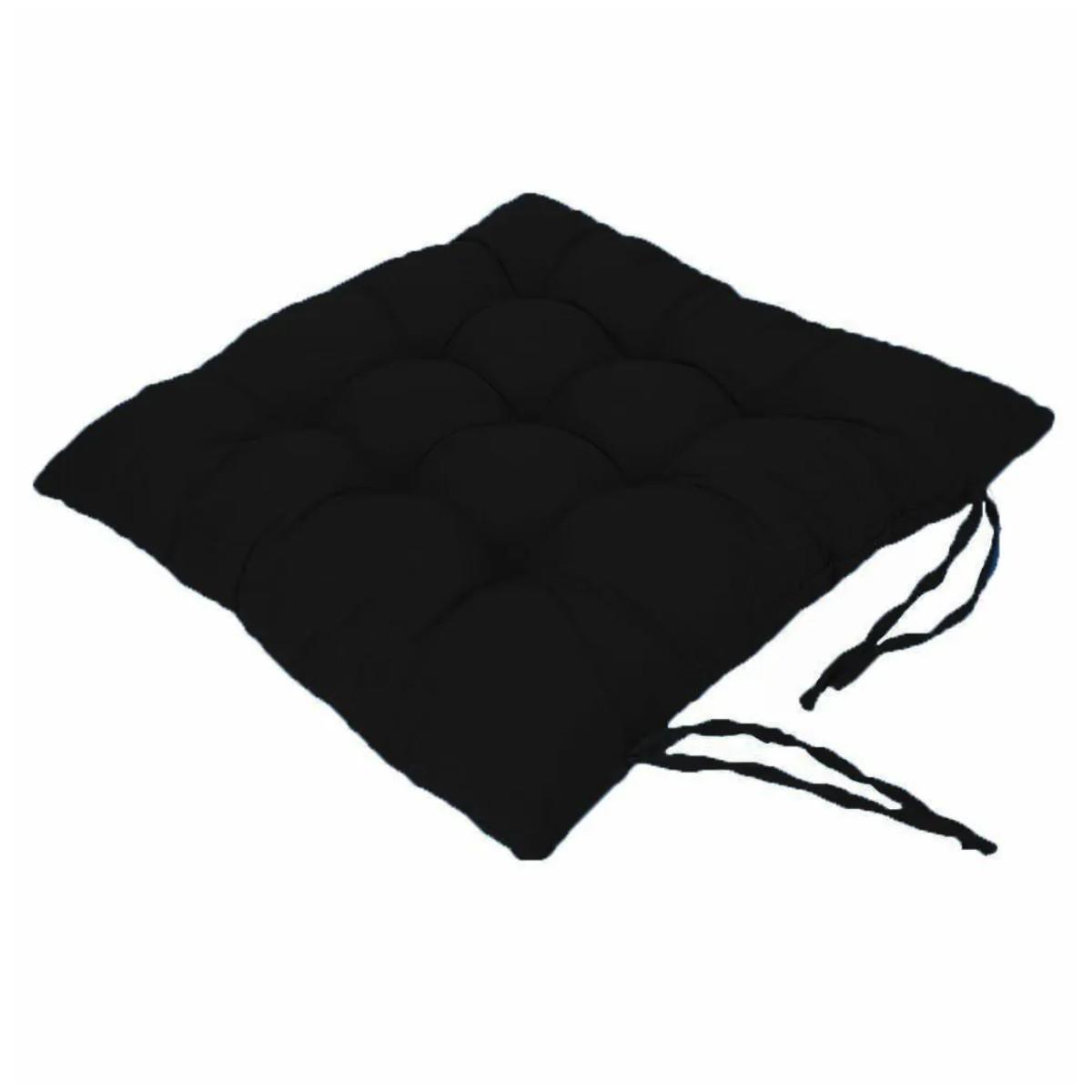 Assento Para Cadeira Futon preto