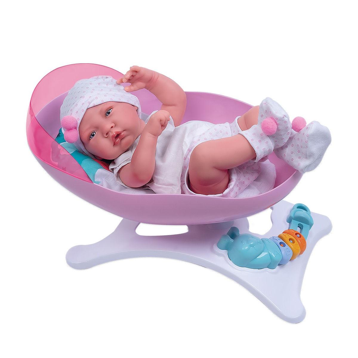 Berço de Balanço Boneca Reborn Baby Ninos Cotiplás