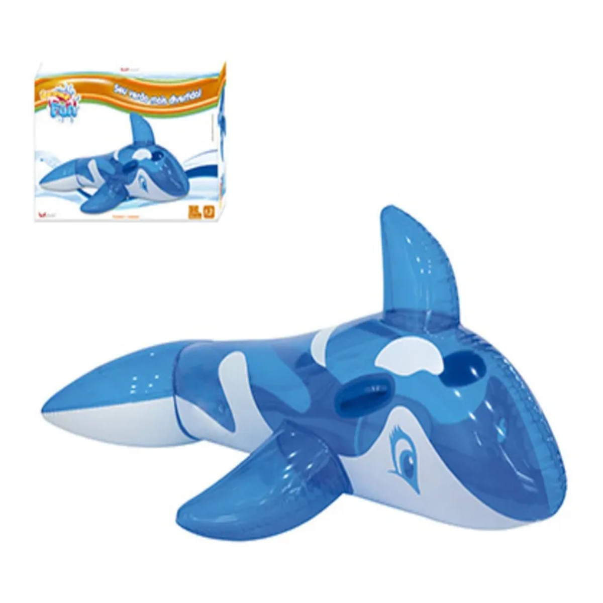 Boia inflável baleia azul