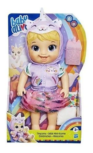 Boneca Baby Alive Tinycorn Gatinha Loira Hasbro