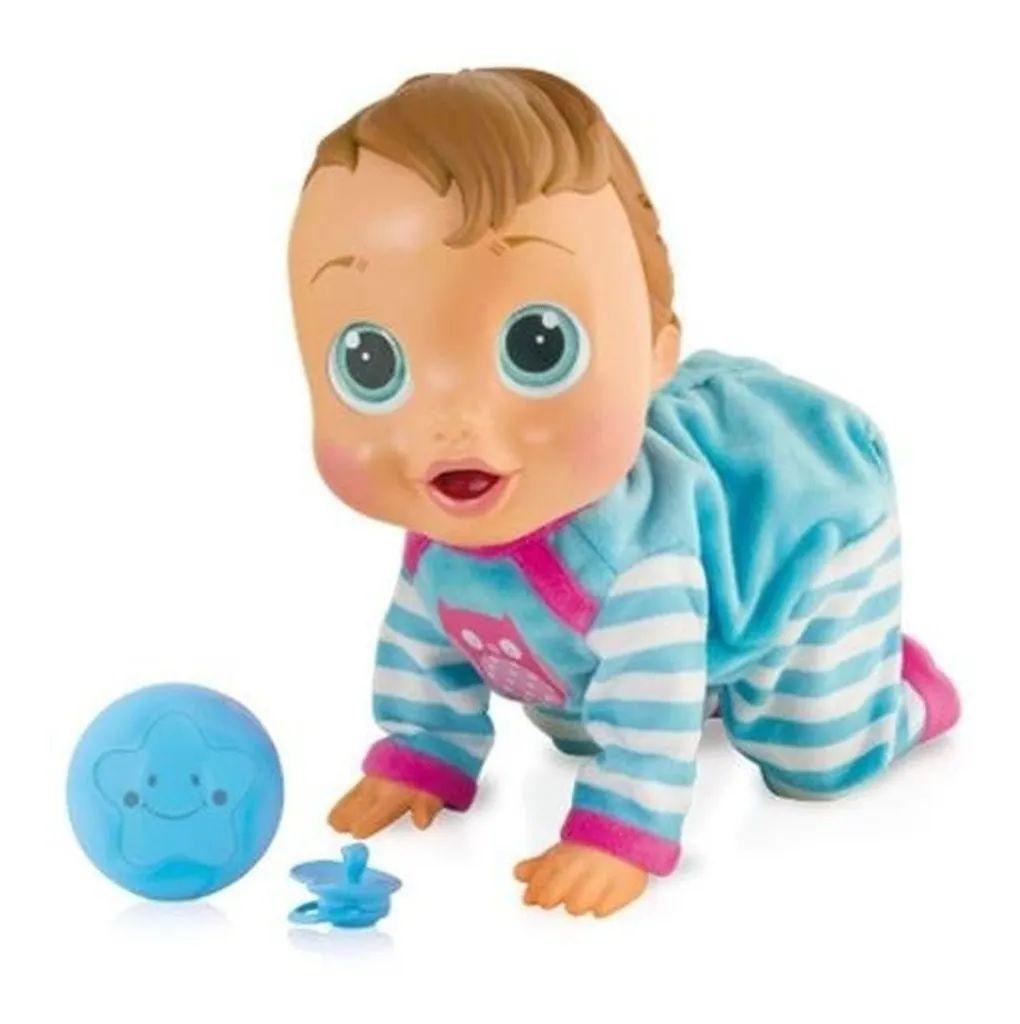 Boneca Baby Wow Engatinha Fala Levanta Multikids