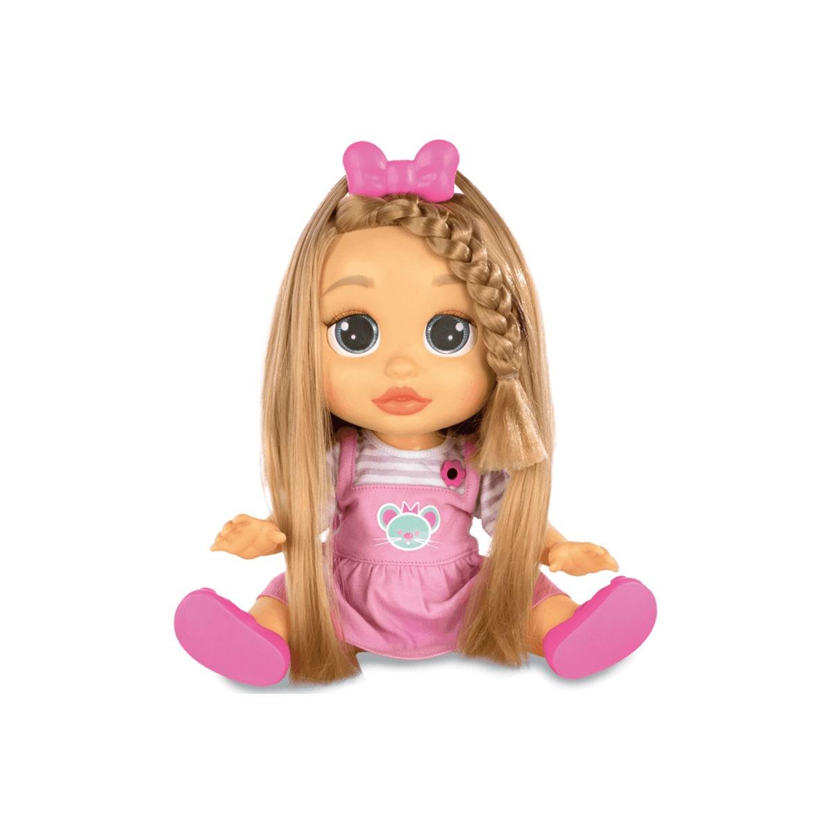 Boneca Baby Wow Mia Cabelo Cresce de Verdade 9 Acessórios