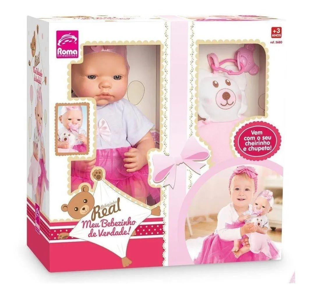 Boneca Meu Bebezinho Real Roma Brinquedos 5680
