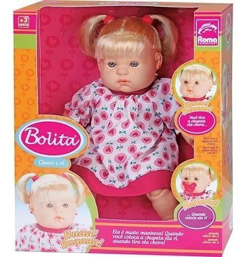 Boneca Bolita Sons De Bebê Roma