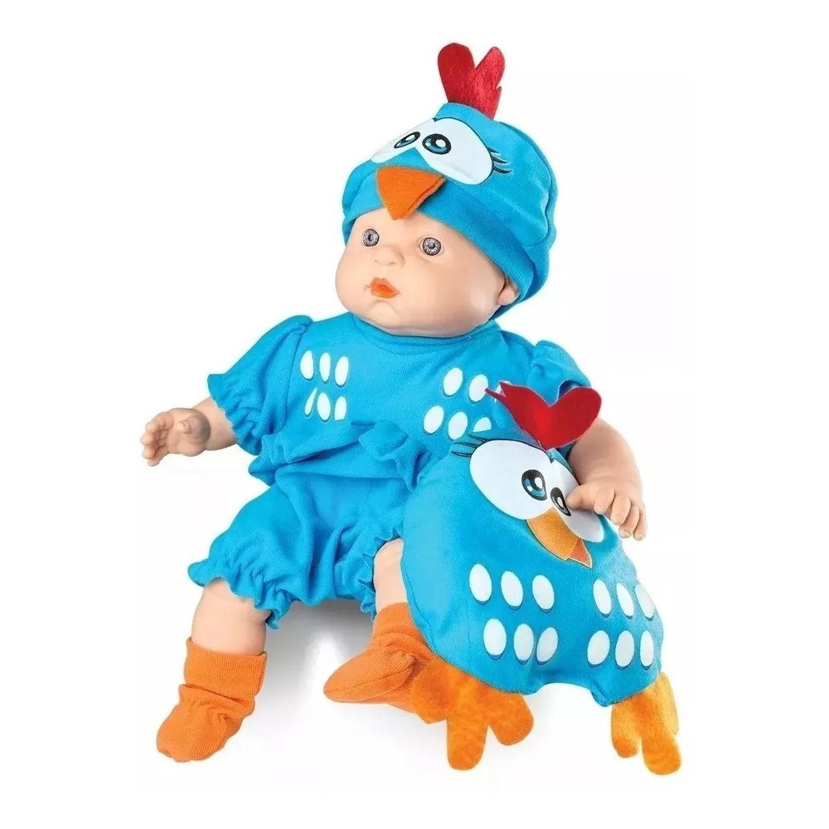 Boneca Meu Bebê Galinha Pintadinha C/ Travesseiro Mini 5604