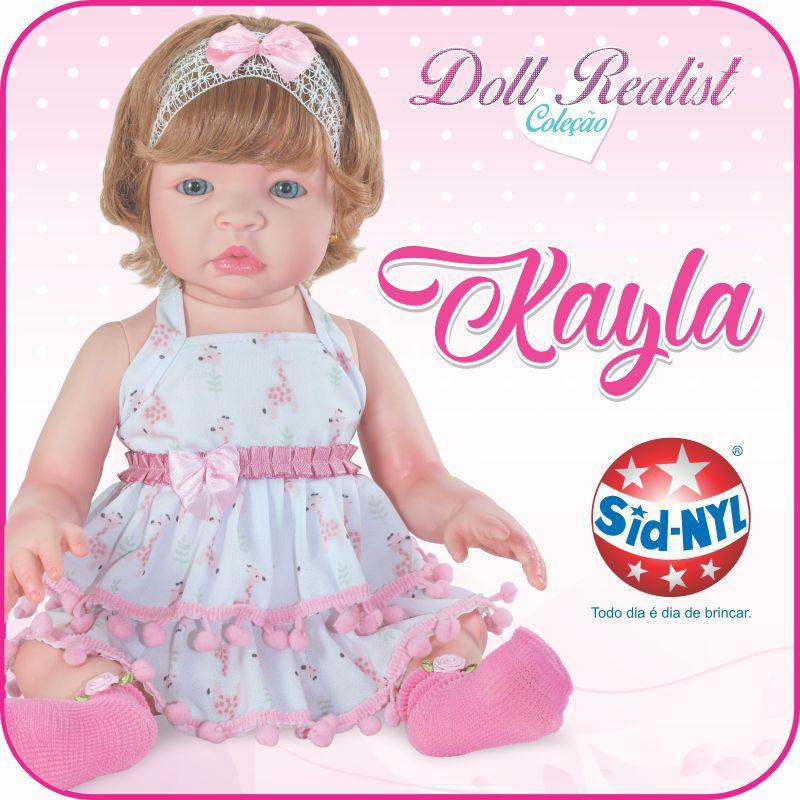 Boneca Reborn Kayla Coleção Doll Realist Sid Nyl