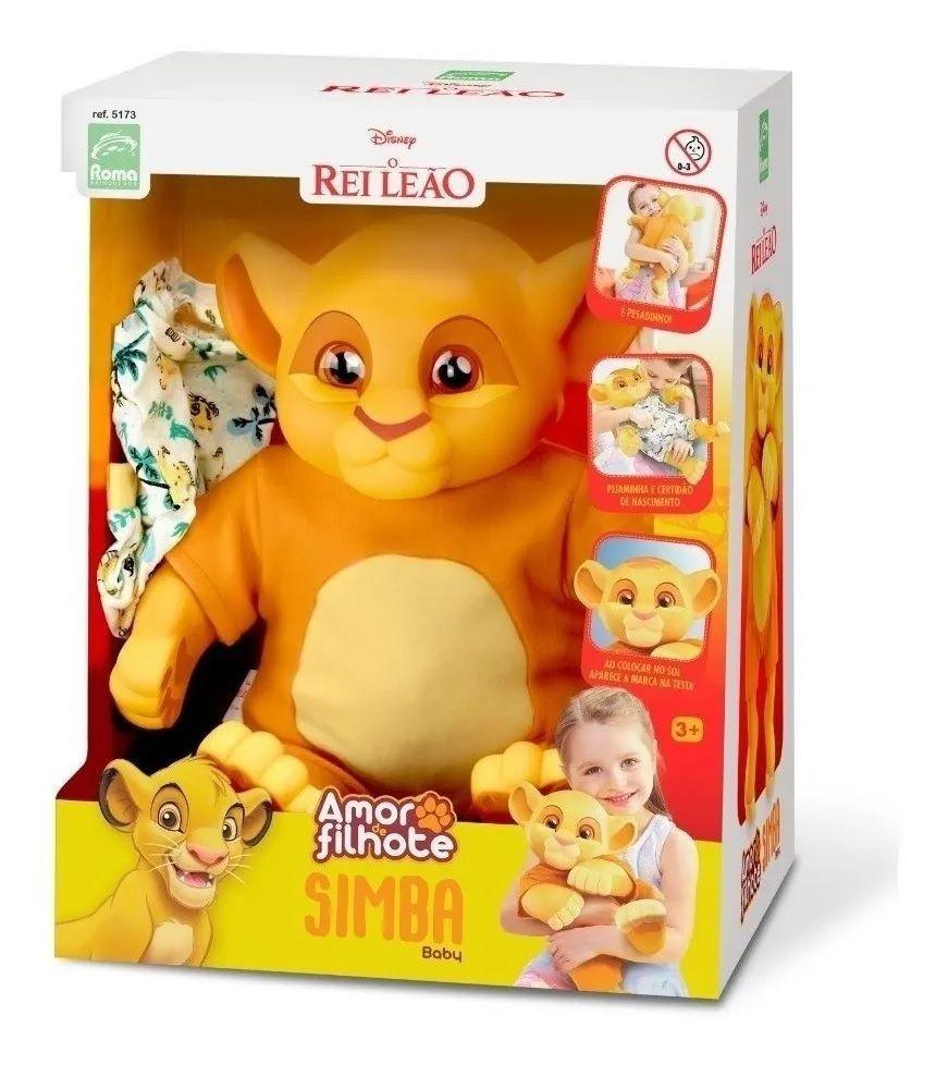 Boneco Simba Amor De Filhote Baby Roma Brinquedos
