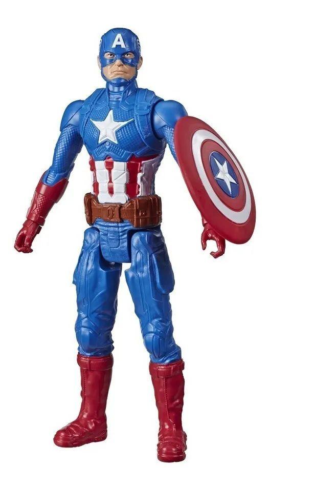 Boneco Capitão América Marvel Titan Hero Series Hasbro