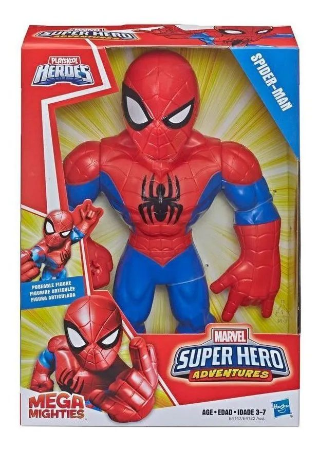 Boneco Mega Mighties Homem Aranha Playskool Hasbro
