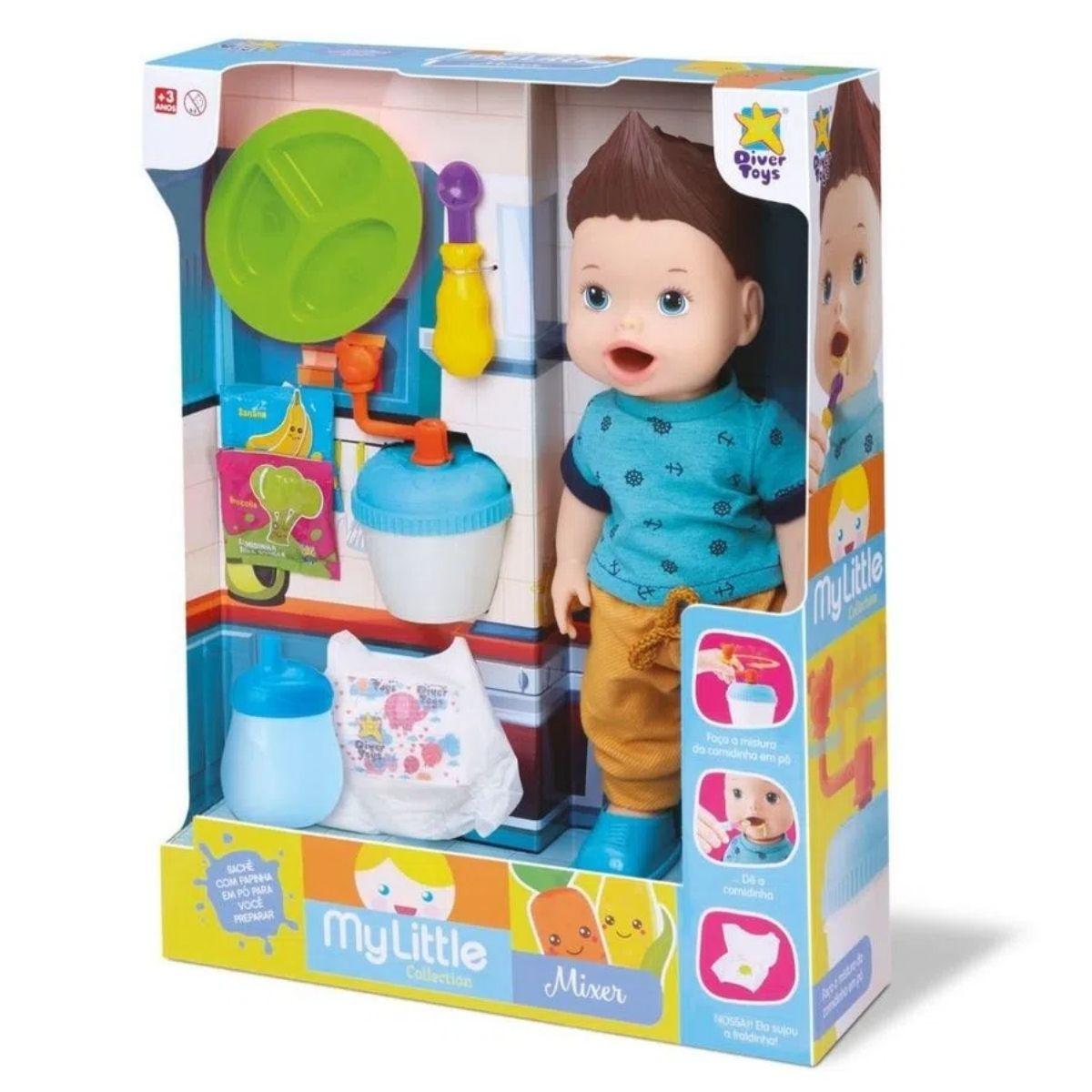 Boneco My Little Collection Boy Baby Mixer