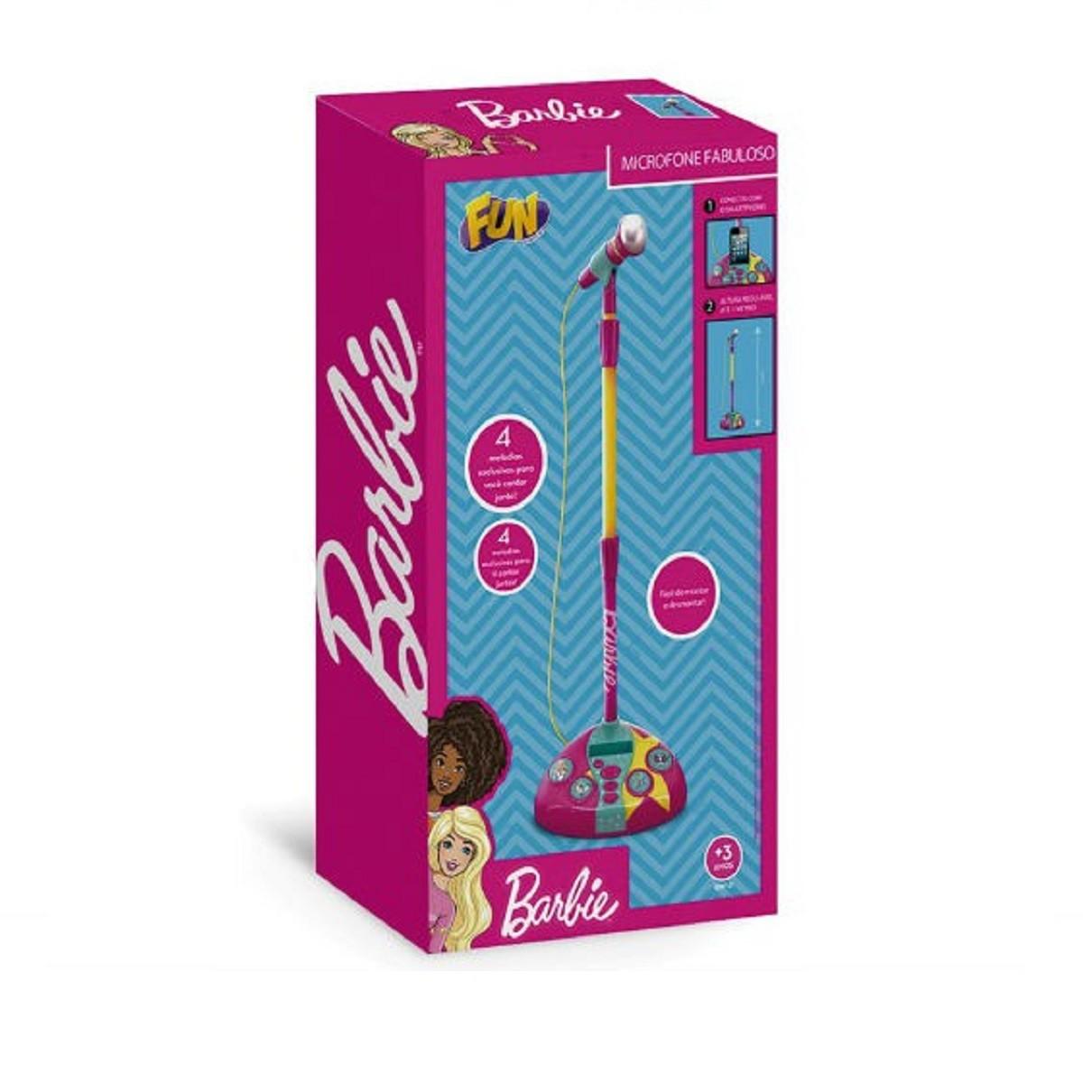 Brinquedo Infantil MICROFONE KARAOKÊ FABULOSO BARBIE