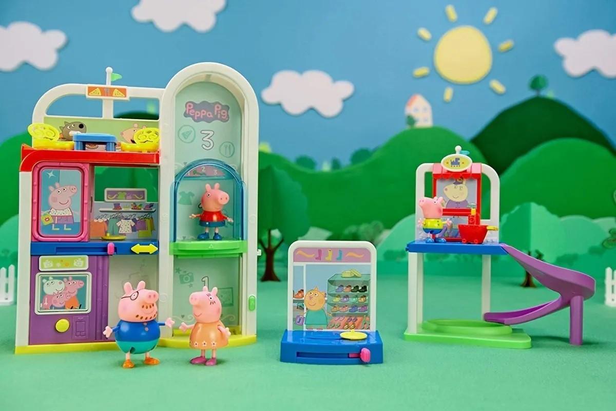 Brinquedo Playset Peppa Vai Ao Shopping 10 Peças Sunny