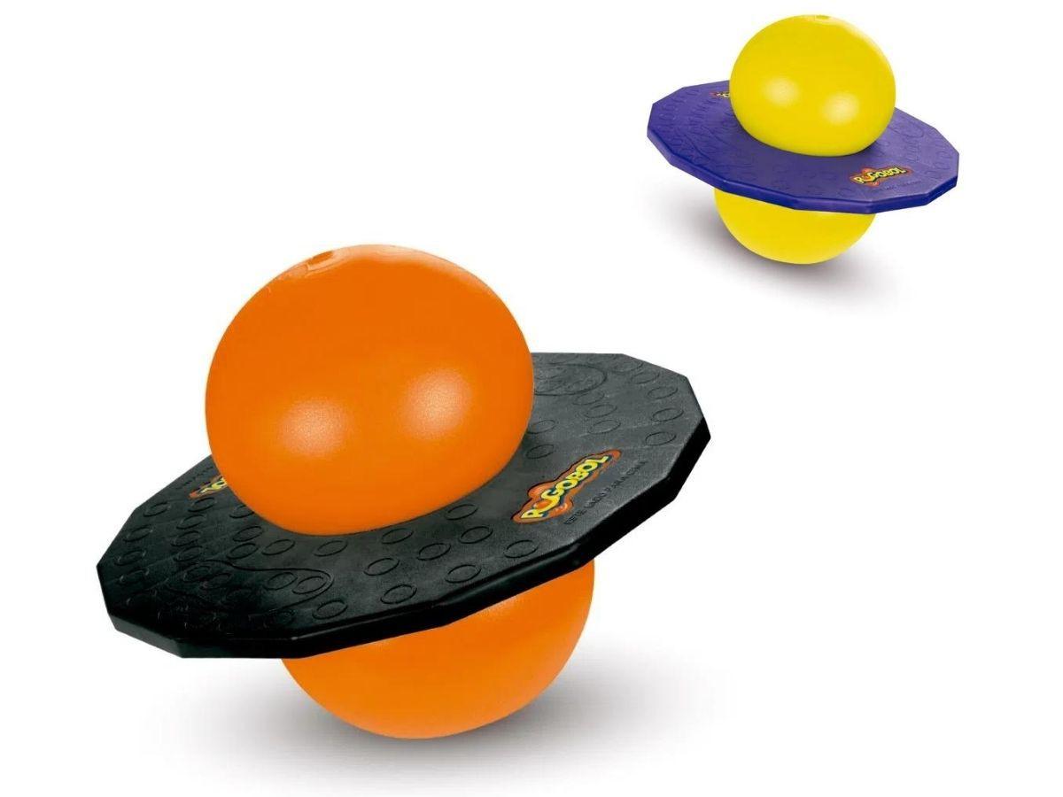 Brinquedo Pogobol Clássico Original Estrela Laranja/Amarelo