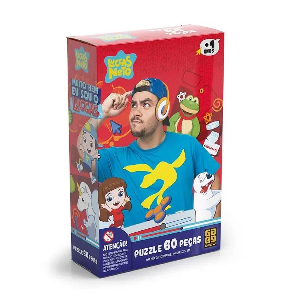 Brinquedo Quebra-Cabeça Puzze 60 Peças Luccas Neto