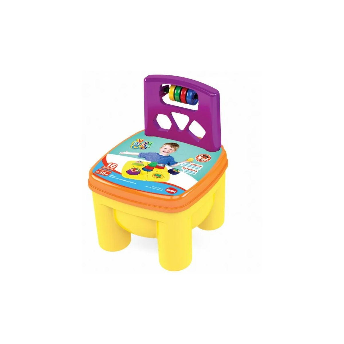 Cadeira Educativa Infantil Brinkadeira Pedagógica MK217