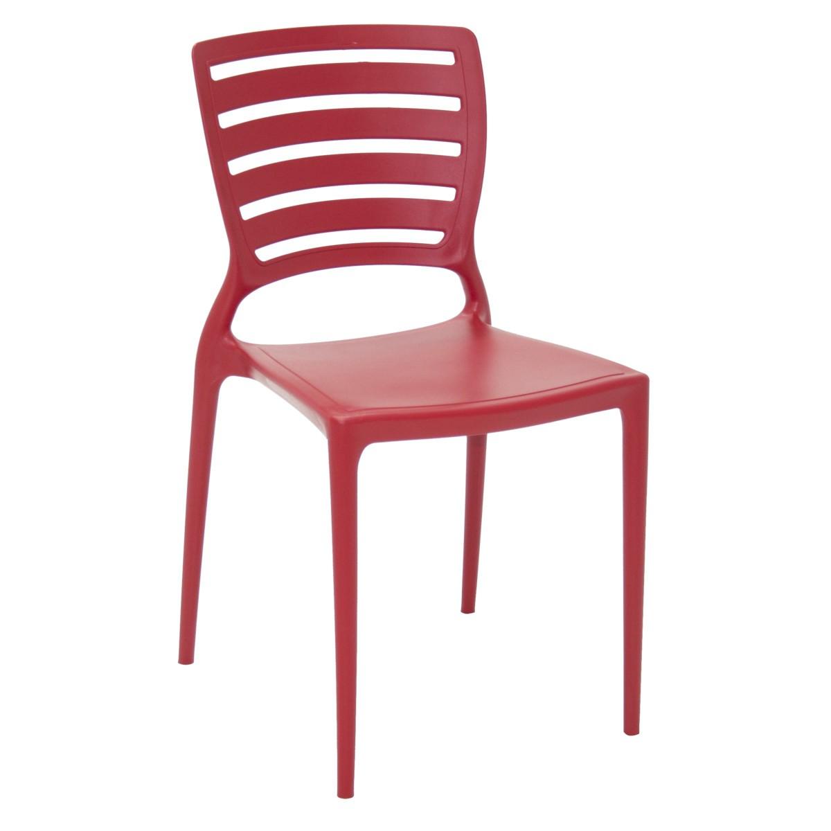 Cadeira Sofia Tramontina Encosto Horizontal em Polipropileno e Fibra de Vidro 7040 VM