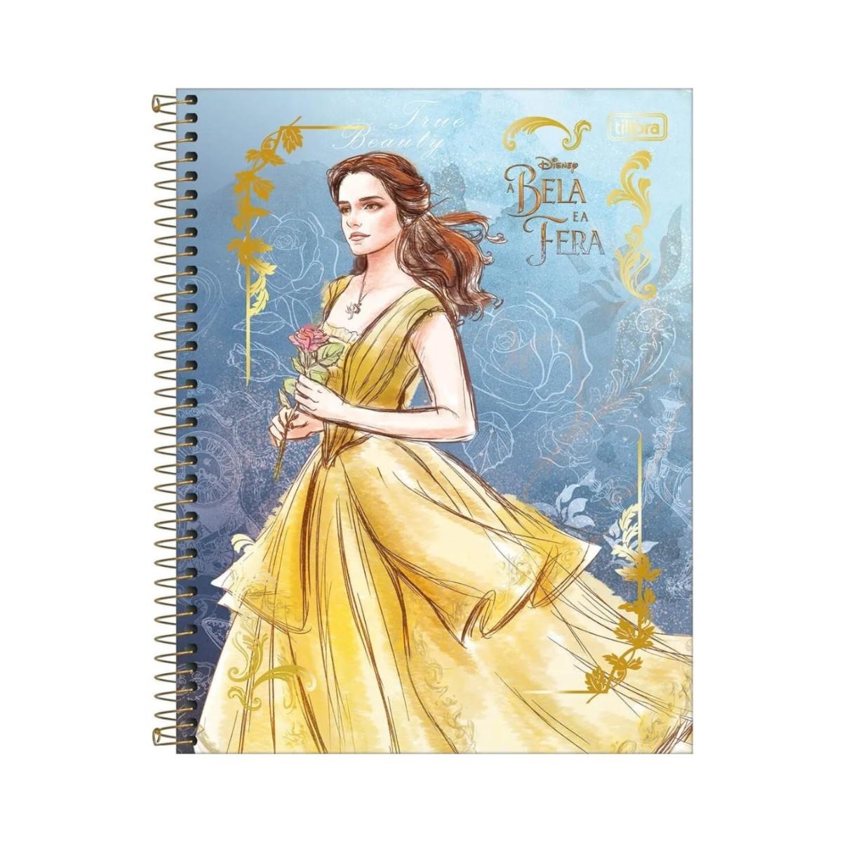 Caderno Escolar 10 Matérias A Bela e a Fera 160 Folhas Tilibra