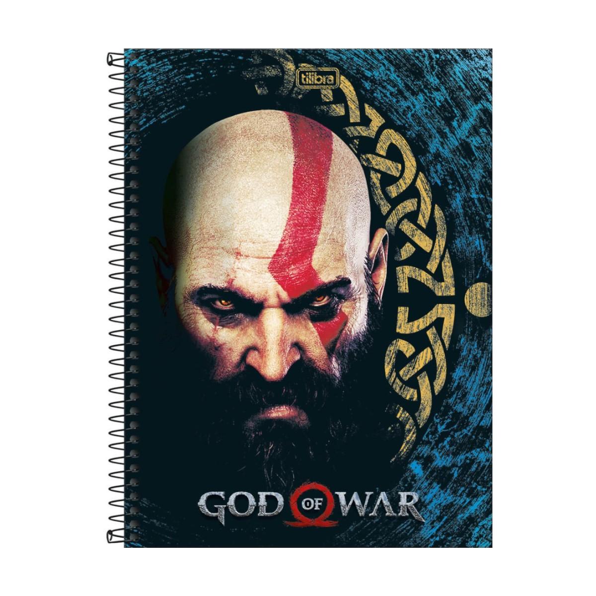 Caderno Escolar 10 Matérias God of War 160 Folhas Tilibra