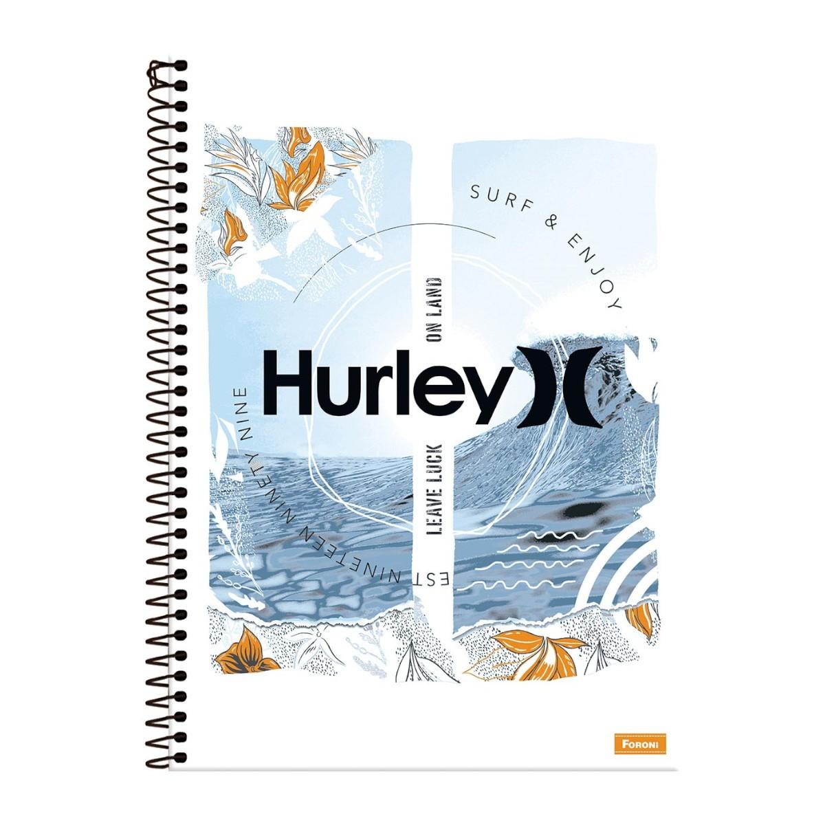 Caderno Escolar 10 Matérias Hurley 160 Folhas Foroni