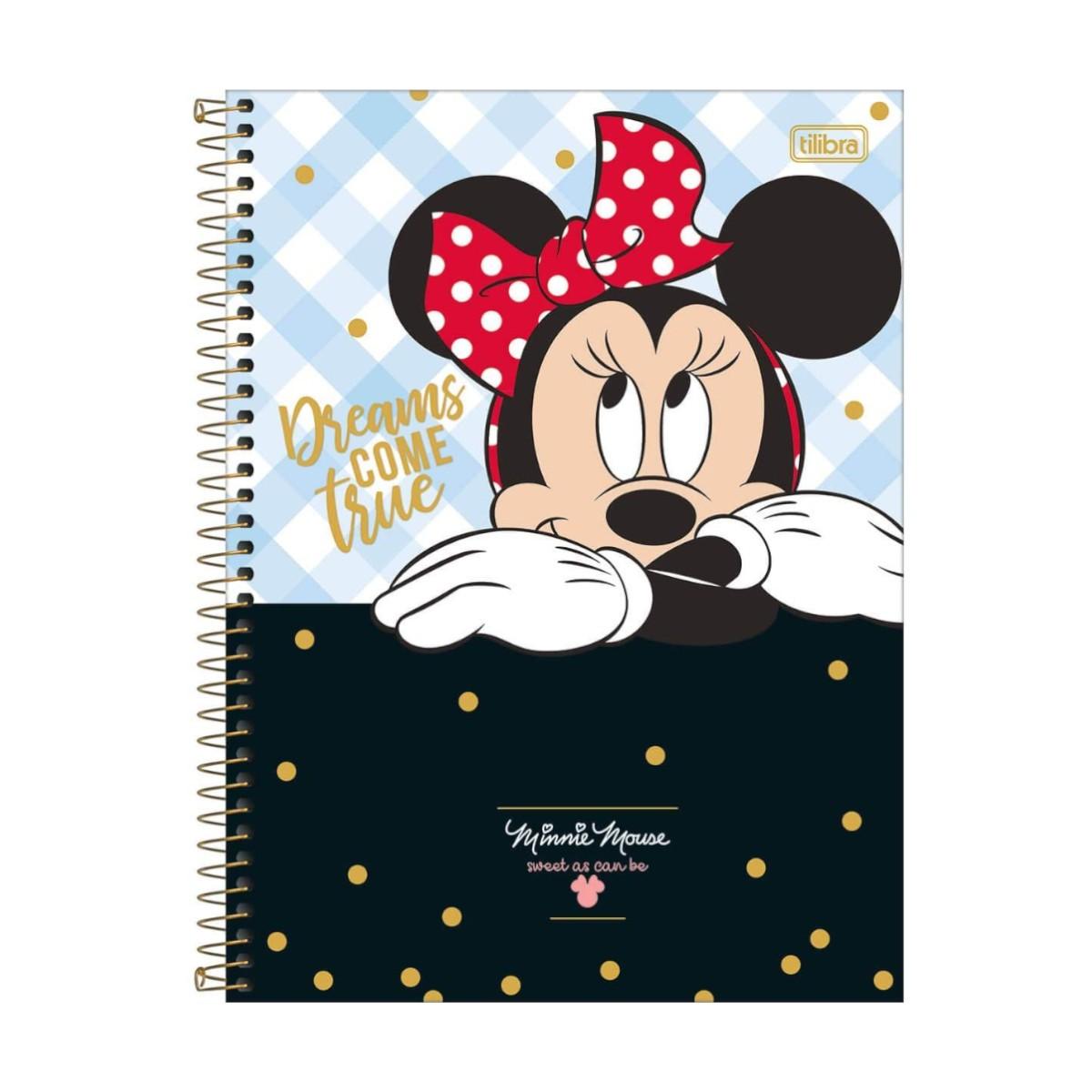 Caderno Escolar 10 Matérias Minnie Mouse 160 Folhas Tilibra