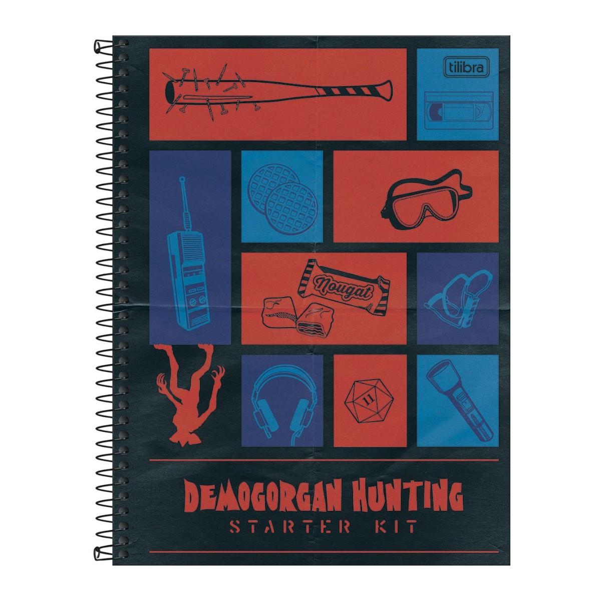 Caderno Escolar Stranger Things 10 Matérias 160 Folhas Tilibra