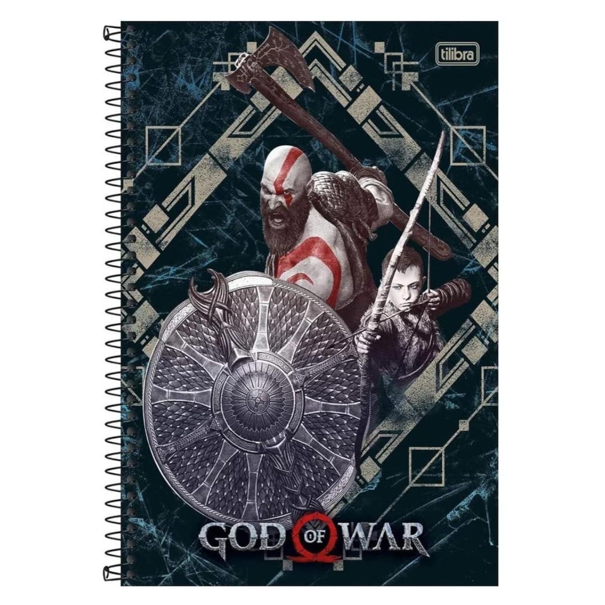 CADERNO GOD OF WAR 1 MATÉRIA 80 FOLHAS TILIBRA