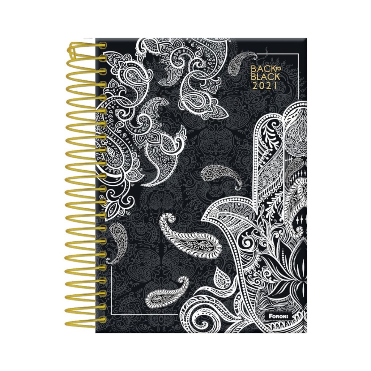 Caderno Universitário 10 Matérias 200 Folhas BACK TO BLACK
