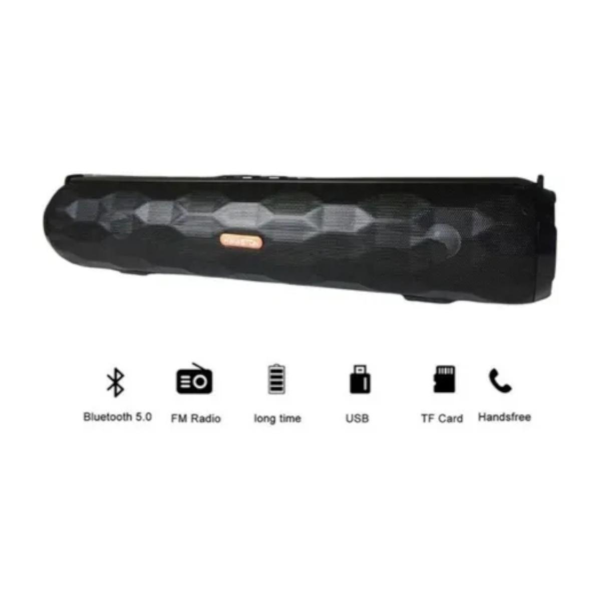 Caixa De Som Bluetooth Microfone Usb H'maston E-320