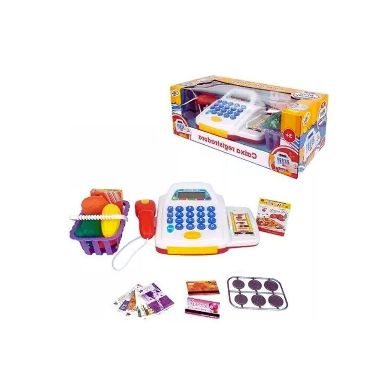 Caixa Registradora Mini Mercado Infantil Eletrônica Com Som